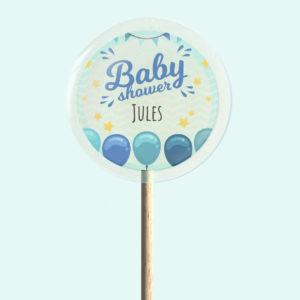 Sucette Baby shower – Bleu