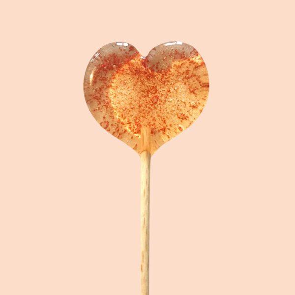 sucette coeur paillettes rouges