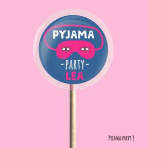 Sucettes Pyjama party